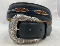 Justin  Northern Bison Leather Belt Size 36 Made in USA C13653  NWT