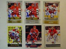 LOT OF 6 AUTOGRAPHED CAROLINA HURRICANES Signed NHL HOCKEY CARDS UPPER DECK Etc