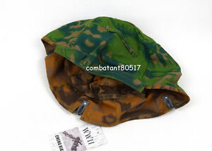 WWII German M35 40 Helmet Cover Palm Tree Camo Color Reversible