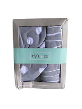 Pack n Play Sheet | Mini Crib Sheet Set 2 Pack Grey and White Abstract