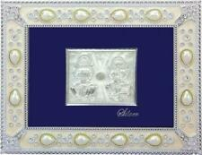 """Silver Picture in Frames Laxmi And Ganesh12""""x10"""""""
