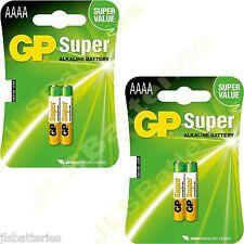4x AAAA GP SUPER Batteries MN2500 1.5V E96 LR8D425 Alkaline battery 2 X 2 packs