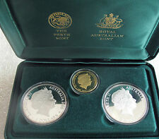 2000 Australia Olympic coin set 3 / $5 - $100 dollars gold silver Sydney