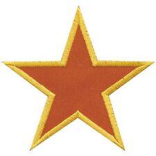rot Rücken-Aufnäher Applikation Stick-Emblem 25 x 25 cm • STERN ☆08518 schwarz