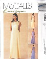 UNCUT McCalls Sewing Pattern Evening Elegance Lined Gown OOP FF SEW 6 - 20 SEW