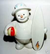 LENOX SNOWMAN HOLIDAY August sculpture NEW in BOX with COA Surfboard