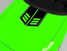 Aufkleber für Motorhaube Rennstreifen Schwarz 60x55 cm Sport Tuning Sticker 254