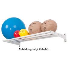 Soporte de pared base módulo pelota estante para pared estante para gimnasios, 6-tlg., 50x125 cm