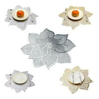 Bauhinia Flower Shape Table Pad Placemat Non-slip Dish Cup Mat Dining Home Decor