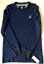 G Star Raw Kylie Waffle Submarine Shirt Top Mens M Tench Blue/Black NWT $95