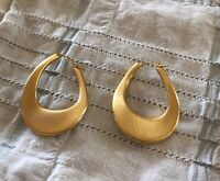 14K GOLD ORO NUOVO SATIN HOOP EARRINGS QVC