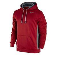 NWT Men's Nike KO 3.0 Hoodie Therma Fit Gym Red 650733 687