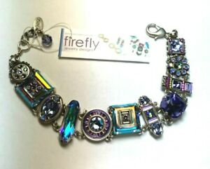 FIREFLY JEWELRY BRACELET SQUARE LA DOLCE VITA LAVENDER AB CRYSTAL 3036-LAV