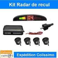 KIT COMPLET DE RADAR DE RECUL VOITURE AVEC 4 CAPTEURS NOIR + ECRAN LED + BIPER