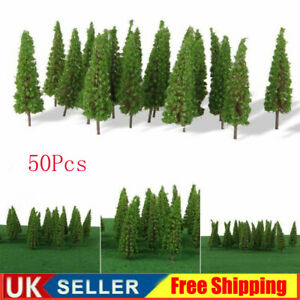 50Pcs Trees Model Train Railroad Wargame Diorama Scenery Landscape HO OO Scale.