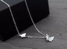 Halskette Kette 925 Sterling Silber Schmetterling 3D Schmetterlinge Geschenk NEU