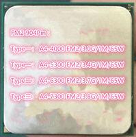 AMD A4-4000 A4-5300 A4-6300 A4-7300 Socket FM2 Desktop CPU