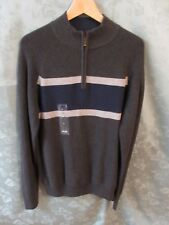 IZOD Sweater 1/4 zip American Sports Mock Neck Henley Size Medium NWT