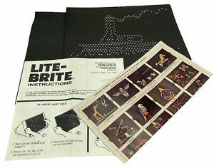 Vintage Lite-Brite Instruction Manual 1973 w/ Order Form and Unused Patterns