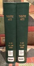 THEATRE ARTS Monthly - Volume XIII / 1929 - 2 Volume bound H/C  12 issues  NF