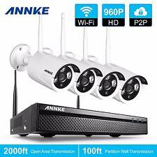 ANNKE 960P Wireless Security Cameras 4CH DVR NVR System IR-CUT WiFi Video System