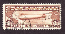 US C14 $1.30 Graf Zeppelin Air Mail Used F-VF SCV $375