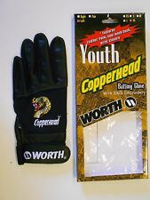 NOS Vtg '90's Worth Copperhead YOUTH Batting Glove X-Large (Left) Orig Package!