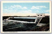 Akron City Water Works Dam in Akron, Ohio White Border Postcard Unused