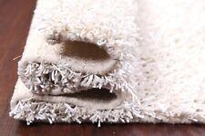 "Glamour White Plush Modern 3x5 Shaggy Shag Oriental Area Rug Carpet 4' 9"" x 2' 6"