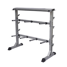 Gym Fitness Dumbbell Barbell Safety Weight Storage Organiser Rack Frame Stand