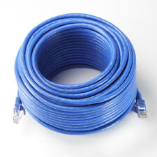 100ft Blue Cat6 Patch Cord Cable 500mhz Ethernet Internet Network LAN RJ45 UTP
