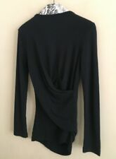 GIVENCHY Paris Drape Back Top jumper sweater size S
