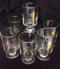 6 VINTAGE PEDISTAL OPTOMETRIS MEDICAL DRINKING GLASSES      (L22X4)