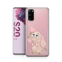 Samsung S20 Schutz Case Schutzhülle Silikon Handy Hülle Etui Motiv Rosa Elefant