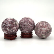 40MM Lilac Lepidolite Ball Sphere Healing Crystal Natural Gemstone Mineral Stone
