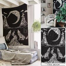 Wolf Moon Mandala Wall Hanging Tapestry Bohemian Bedspread Throw Mat Dorm Cover