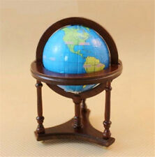 1:12 Dollhouse Miniature Furniture Room Wooden Brown Spinning World Globe Toy