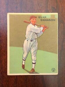 1933 Goudey  #195 Evar Swanson