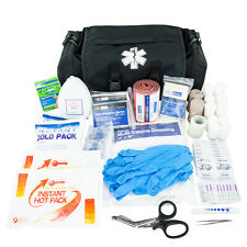 Trauma First Aid Kit EMS EMT Emergency Rescue First Responder Bag - Black