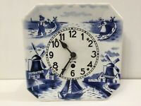 Antique Rare Delft Germany Wall Clock - Not Working, for repair or part