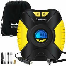 Ansteker Tyre Inflator - Portable Air Compressor Car Tyre Pump 12V with 3-Mode