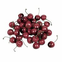 Faux Fake Craft Cherry Simulation Fruits Decor Desk Ornament 40 Pcs HY