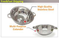 13 Inch Stainless Steel Mesh Net Rice Strainer Colander Basket with Rim Kitchen