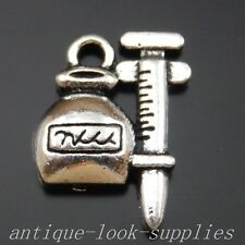 39991 Antique Silver Alloy Needle and Bottle Pendants Charms Craft Finding 48Pcs