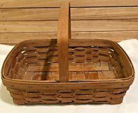 Longaberger Vintage 1985 Medium Chore Market Pantry Basket  Stationary Handle