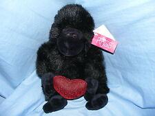 RUSS BERRIE Gorilla Heart Throbs 5006 de collection rare cadeau d'Anniversaire