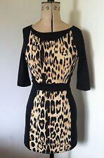 Ladies Zara Leopard Print Bodycon Dress Size EUR26 Petit