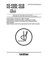Brother KE-430B 431B 432B 433B Sewing Machine Owners Instruction Manual Reprint