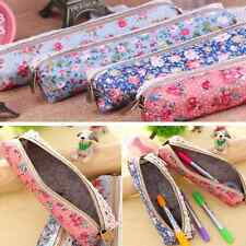 Retro Flower Floral Lace Pencil Pen Case Girl's Fashion Makeup Bag Pouch Holder