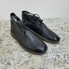 Clarks Original Desert Boot Mens 9 Black Leather Ankle Chukka Lace Up
